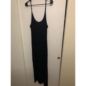 Black maxi tank top dress